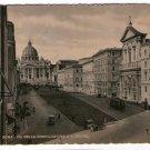 Italy Italia Roma Rome S Pietro Conciliazione Street Postcard