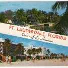 GREETINGS FROM FT LAUDERDALE Photo Postcard The Venice of Florida