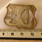 OLD Argentina Police Collar Badge OBSOLETE NUMBER 40