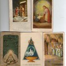 Argentina Virgin Mary Jesus Christ  Holy Card  5 CARDS WEDDING HOMMAGE RARE