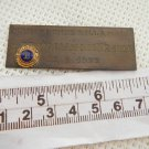 OLD Argentina Lons Club Hommage Plate Plaque