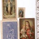 Vintage Christian Religion Virgin Mary Maria Holy Card BUNDLE OF 4