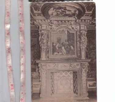 Chateau de Cheverny France Cheminee de la Chambre Du Roi Kings Chimney Postcard