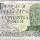 Argentina 500 Pesos Bank Note Banknote Paper Money