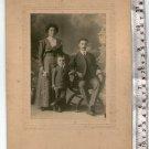 Antique Argentina Photograph Cabinet Photo Man Woman Couple  Boy People Family