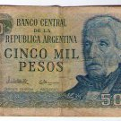 ARGENTINA 5000 Pesos  Bank Note Paper Money