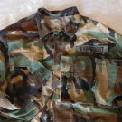 VINTAGE US Military Army SHIRT BDU  Wood Camo WAINWRIGHT NAMETAG NAME TAG