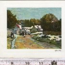 Argentina Alfred Sisley Painting Picture Greetings Art Postcard UNFOLDS