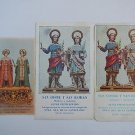Argentina St Cosme Damian Demian Holy Card  3 CARDS  VINTAGE