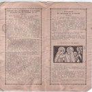 Marta Mazzarello Anniversary 1937 Bosco Order Argentina Vintage Holy Card