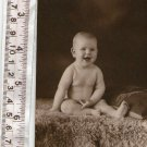 ANTIQUE Girl Child Boy Baby Children Cabinet Photo RPPC Postcard