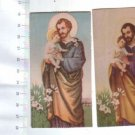 San Jose St joseph Argentina Holy Card  2 CARDS SET
