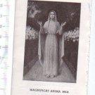 Mgnificat Anima Mea Virgin Mary Obituary Funeral Holy Card  1947