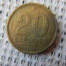 BRAZIL 20 Centavos 1954 GREAT COIN