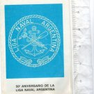 Argentina Stamps First Day Card Navy Day Merchant Naval League Hommage