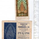 Vintage Christian Religion Virgin Mary of Lujan Holy Card &  Pilgrimage Notice