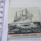 Argentina Navy ARA Bahia Thetis Ship Yacht Sailing Matchbook Matchbox #2