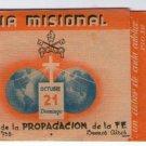 Argentina Faith  Propagation Opus Dei Holy Card  Print 1947 Missional Day