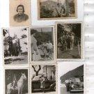 Argentina Photograph Photo Children Boy Girl  Man Woman Horse Plymouth SET OF 8