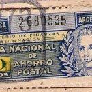 Argentina Eva Peron EVITA Saving 1945  REVENUE STAMP NOT POSTAL 10 Pesos
