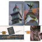Argentina Telecom Phone Card 4 pc LOT ALDO SESSA PHOTOGRAPHY HISTORICAL BUILDING