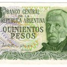 Argentina 500 Pesos Bank Note Banknote Paper Money  UNC