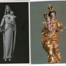 Virgin Mary Statue Image Slovenia Christian Church Cathedral Postcard LOT OF 2