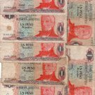 Argentina 1 PESO ARGENTINO Bank Note Banknote Paper Money  BUNDLE OF 7 NOTES