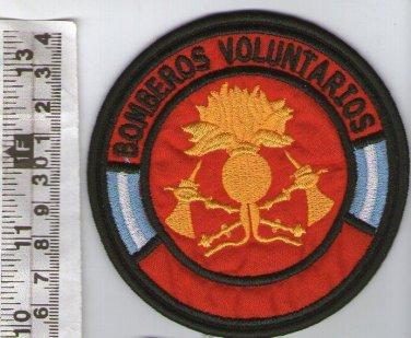 Argentina Fire Department Brigade Firefighters  FD Volunteer  Officer Patch