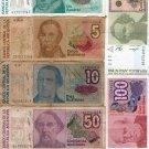 Argentina  AUSTRALES Bank Note Banknote Paper Money  BUNDLE OF 6 NOTES