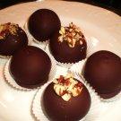 6 ct. Gourmet Organic Chocolate Caramel Brownie Truffles