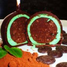 (6ct. large) Organic Cool Mint Chocolate Brownie Pops