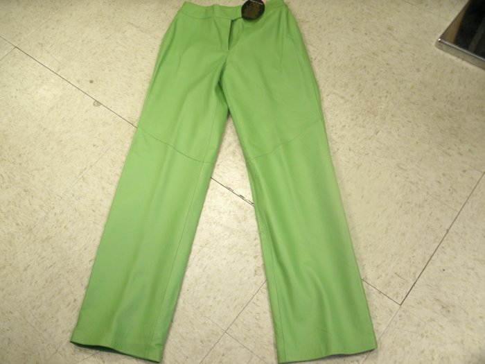 Lime Green Leather Pants