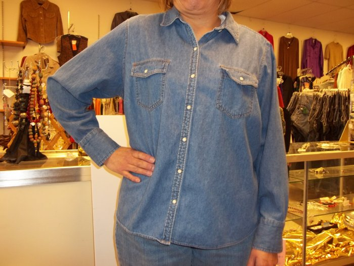 Izod blue snap shirt