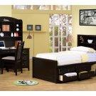 Twin Phoenix Storage Bed With Bookcase Headboard