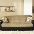 Luna Sofa bed With Storage in Fulya Brown Color by Sunset