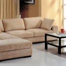 Telus Beige Sectional Sofa + 2 Ottomans and Bookcase