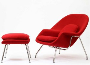 Womb Style Lounge Chair And Ottoman Available in Many Colors