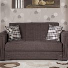 Victoria Andre Dark Brown Convertible Loveseat