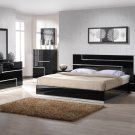 Lucca 5pc King Size Bedroom Set in Black Finish