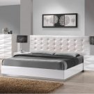 Verona Queen Size Bed in White Finish