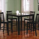 150231 Ashland 5PC Dining Set in Black Finish