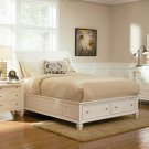 201309 Sandy Queen Size Bed in White Finish