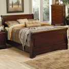 201481Q Versailles King Sleigh Bed with Deep Mahogany Stain