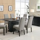102061-62 Stanton Contemporary 7pc Dining Set with Gray Chairs by Coaster
