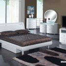 Emily White King Size 5pc Bedroom Set by Global Furniture