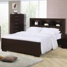 200719 Jessica King Size Platform Bed in Light Cappuccino finish