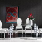 767 Modern 5pc White Dining Room Set  By Dupen
