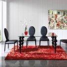 767 Modern 5pc Black Dining Room Set  By Dupen
