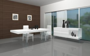 Cloud White Modern 5pc Dining Set